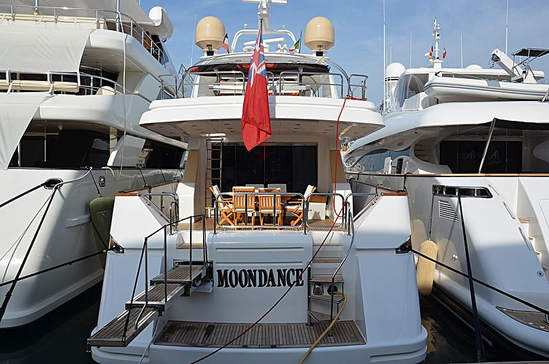 Moondance yacht in Cannes