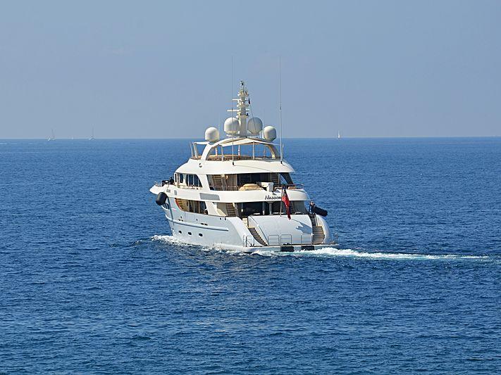 Nassima yacht leaving Nice