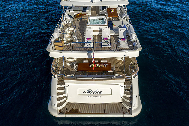 La Rubia yacht aft decks