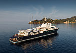 Le Grand Bleu yacht off Portofino, Italy