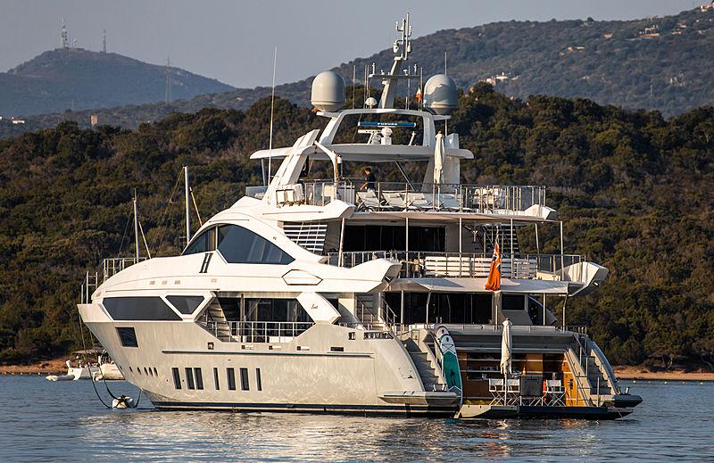 H yacht at anchor of Porto Cervo