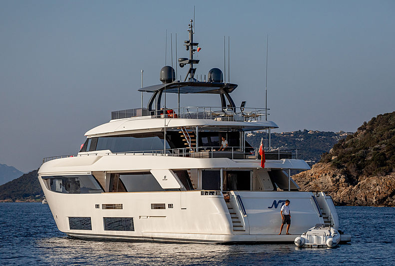 NP yacht at anchor of Porto Cervo