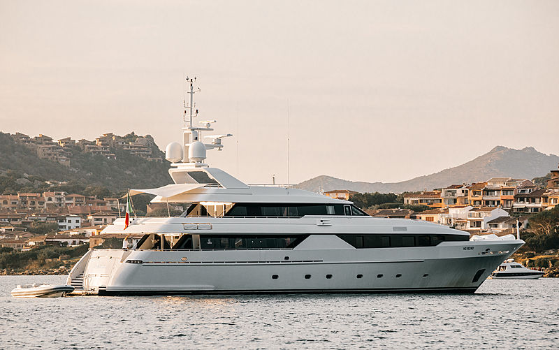 Aldebaran Primo yacht at anchor off Porto cervo