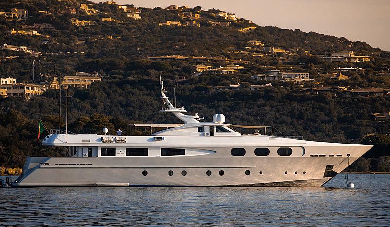 Sophie Blue yacht at anchor off Porto cervo