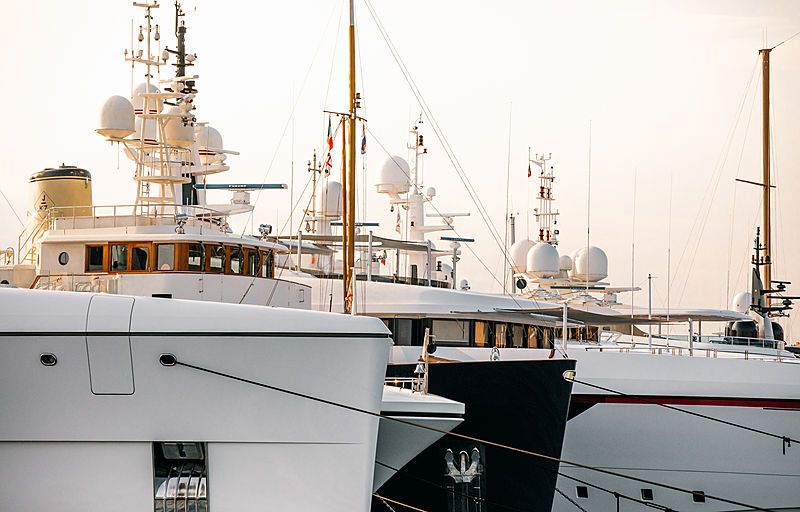Yachts docked in Porto Cervo