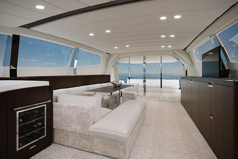 Attitude yacht interior renderings