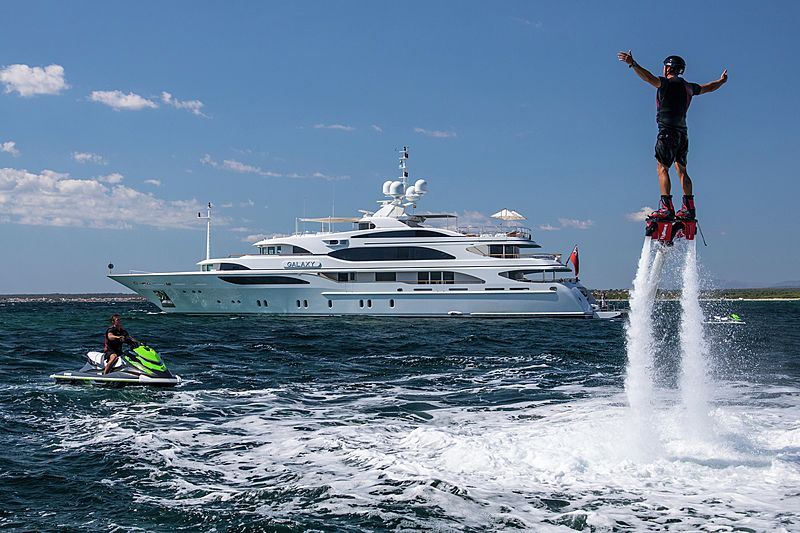 Galaxy yacht with her tous