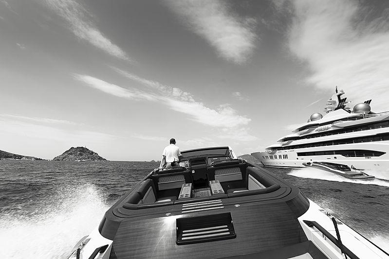 Amadea yacht by Lürssen tender