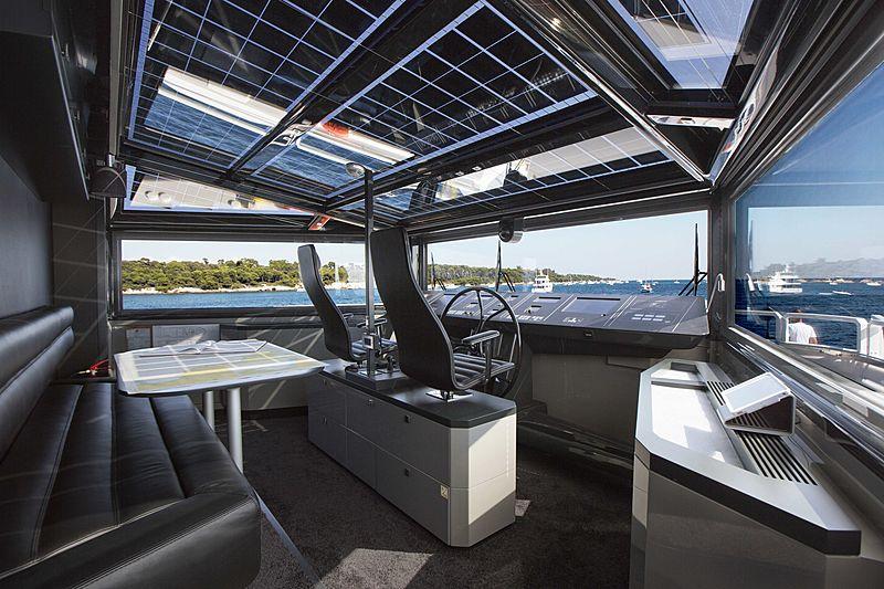 Yacht Jurata wheelhouse