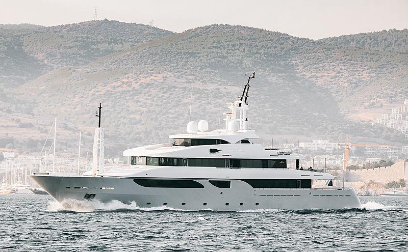 Rarity yacht leaving Bodrum