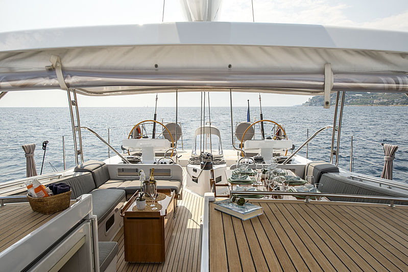 Infinity yacht by CNB aft deck