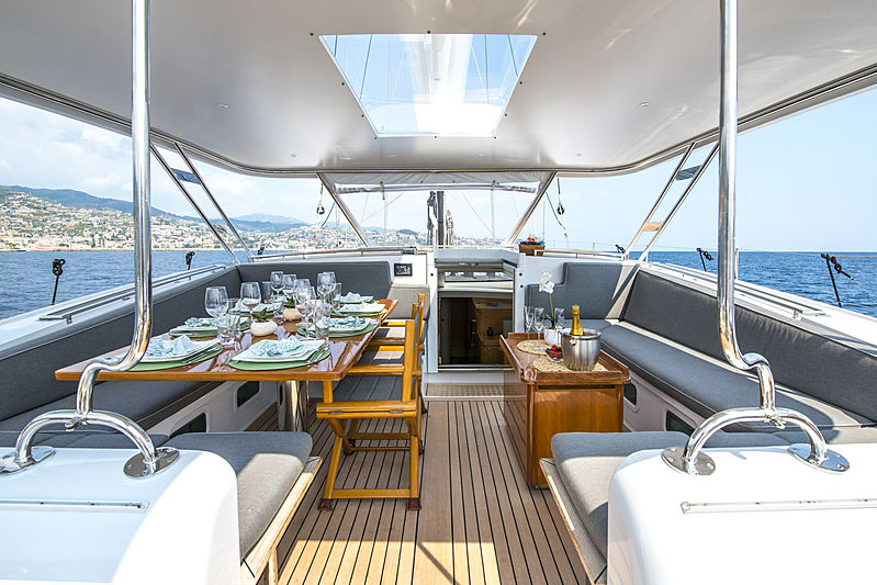 Infinity yacht by CNB cockpit