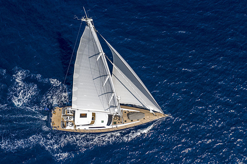 Infinity yacht by CNB aerial
