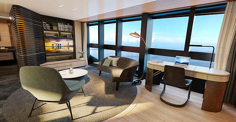 Sunseeker 161 yacht interior rendering