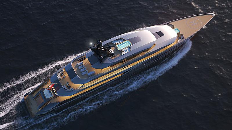 77m Atlantico yacht concept by Marco Ferrari
