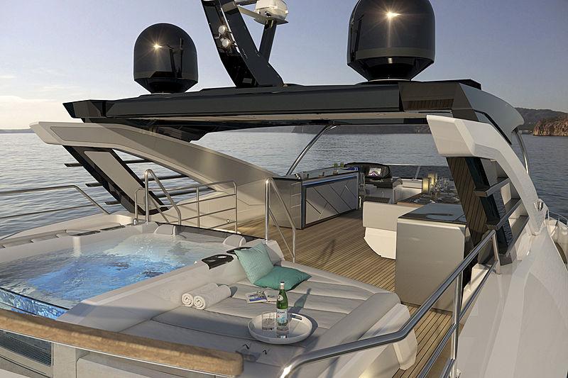 Sunseeker 87 yacht exterior rendering