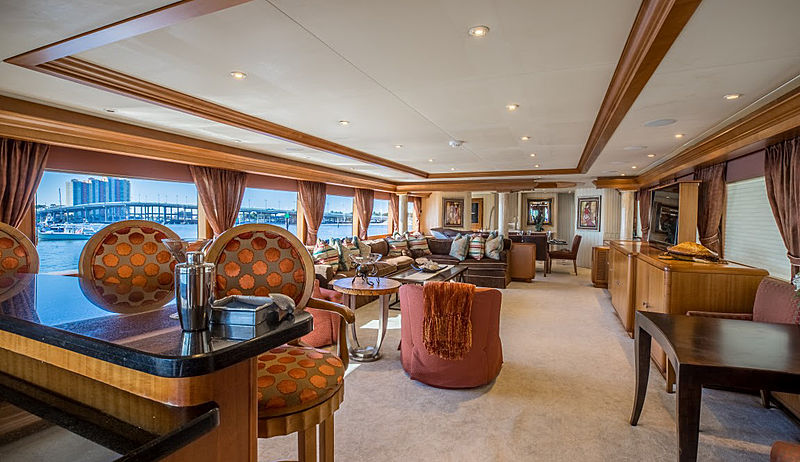 Tranquility yacht saloon