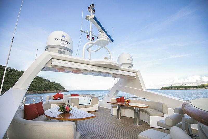 Rhine yacht sundeck