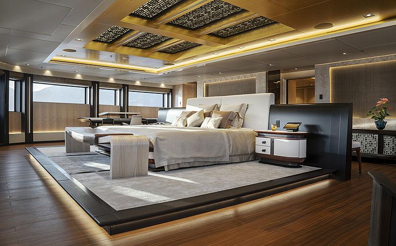 Illusion Plus yacht master stateroom