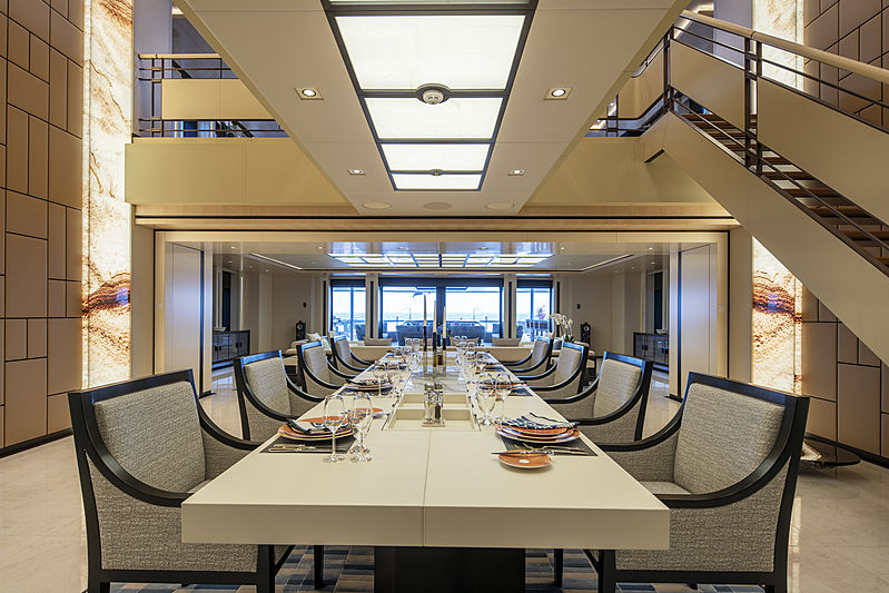 Illusion Plus yacht dining