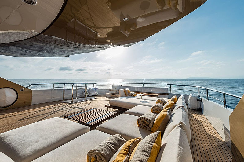 Taboo of the Seas yacht sundeck