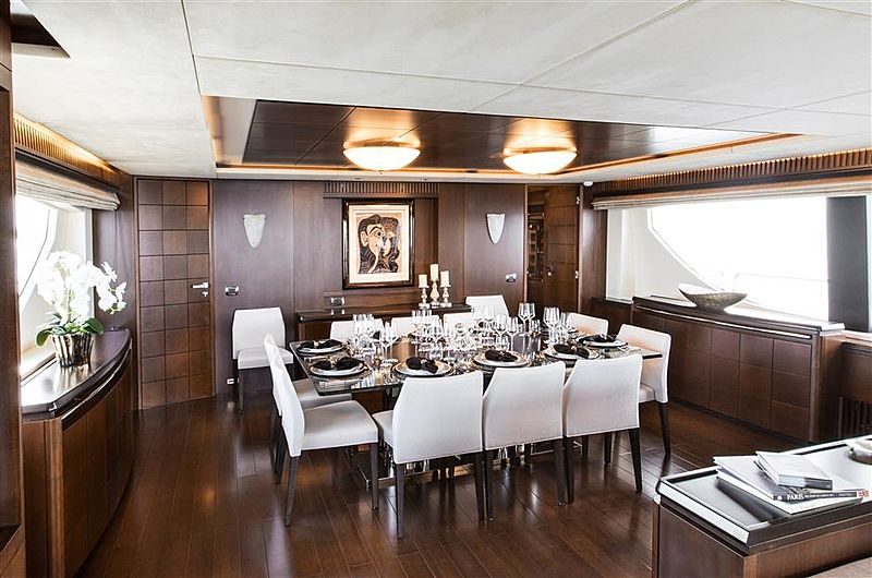 Tail Lights yacht dining table