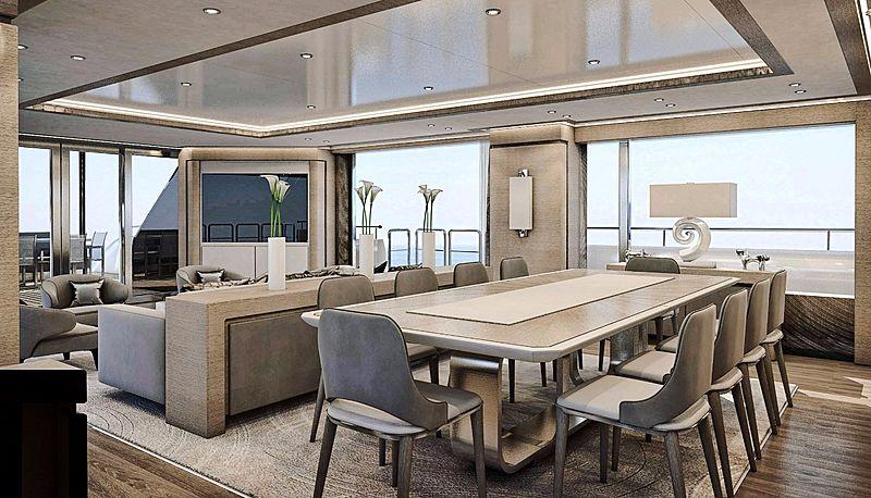 Sea Star yacht interior rendering