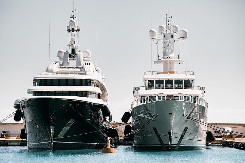 Barbara & Musashi yachts at Antibes