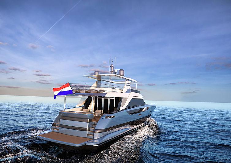 Van der Valk modern 24m flybridge yacht design