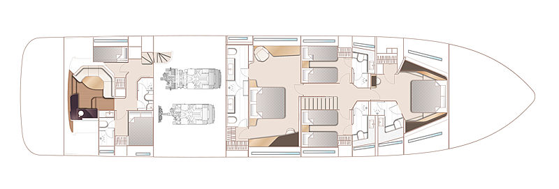 Princess Y95 yacht layout