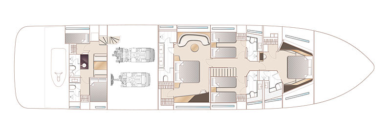 Princess Y95 yacht layout