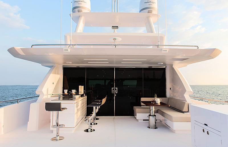 Horizon FD87/11 yacht aft deck