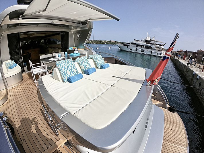 Syber yacht aft deck
