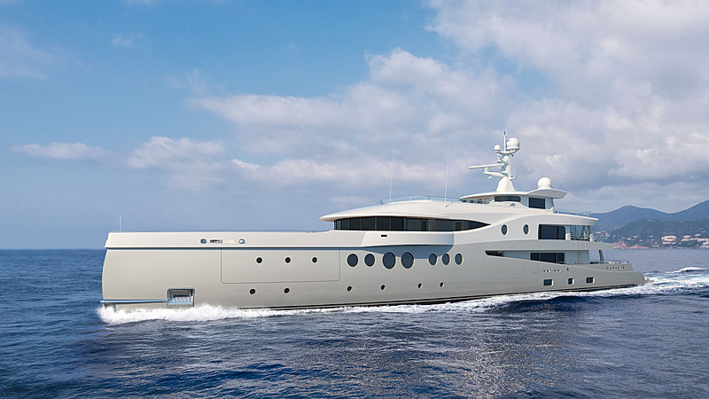 Amels 206 yacht rendering