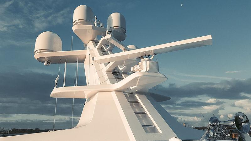 Superyacht mast with VSAT