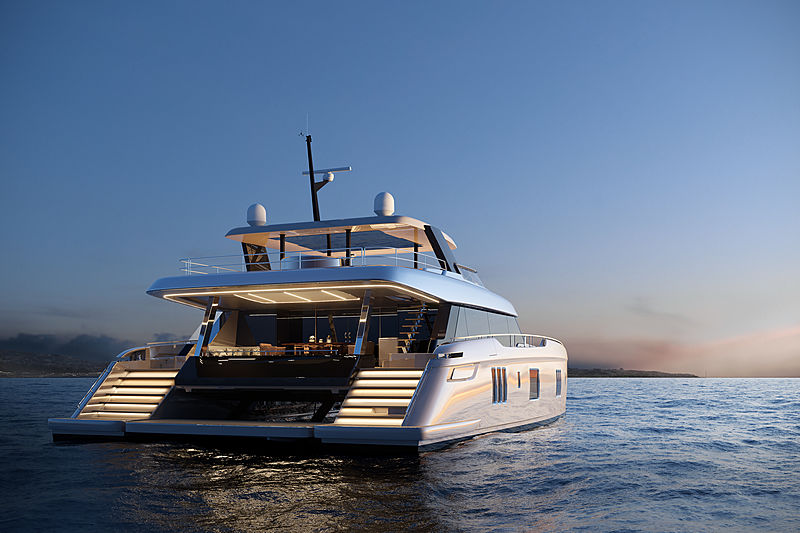Sunreef 80 power yacht exterior design