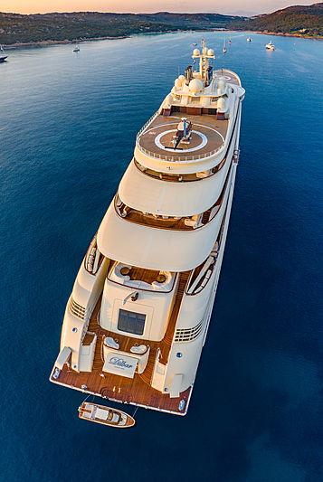 Dilbar yacht by Lürssen in Sardinia