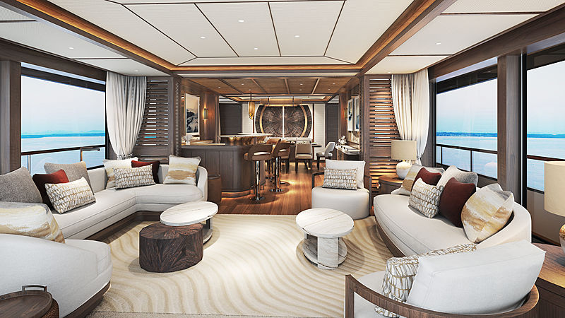 Project Mana yacht interior design