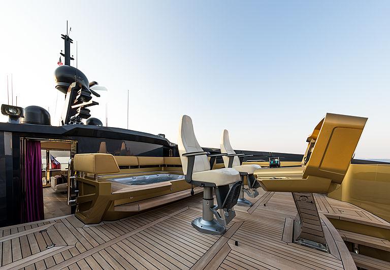 Khalilah yacht deck
