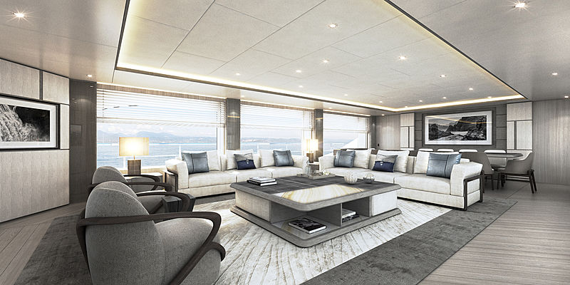Majesty 140/03 yacht interior rendering