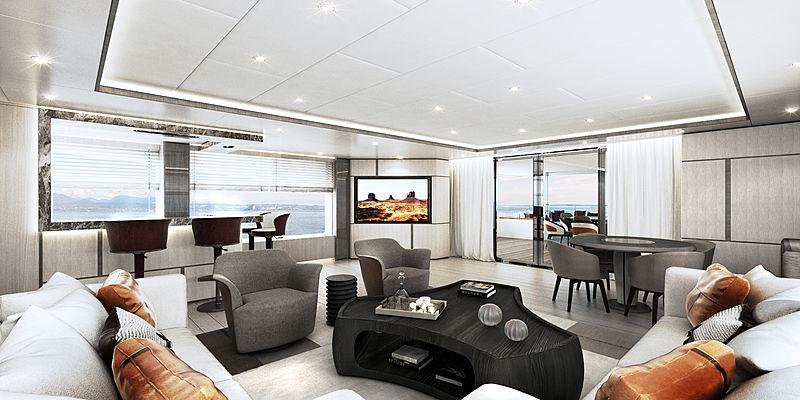 Majesty 140/03 yacht interior rendering