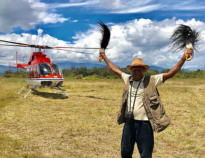 Helicopter expedition to West Papua