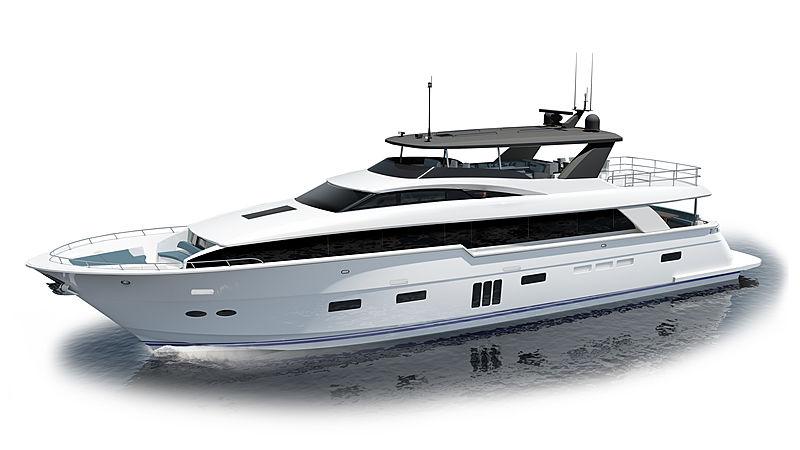 Hatteras 105RPH yacht interior rendering