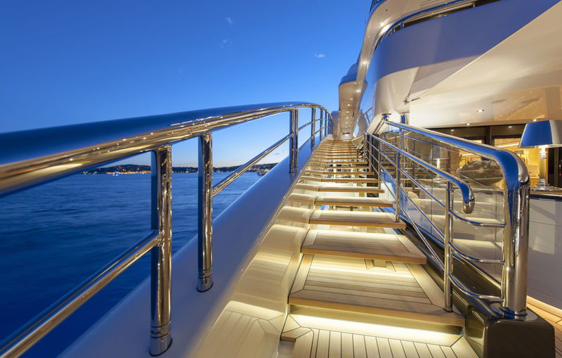 Ace sidedeck at night