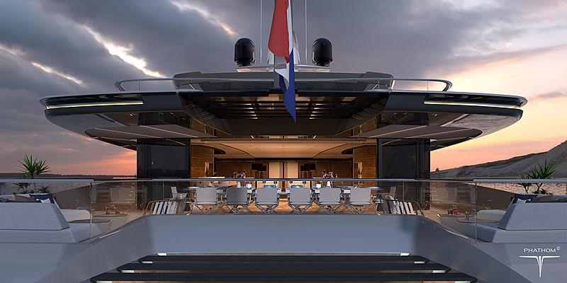 80m yacht Phathom-1 design concept exterior