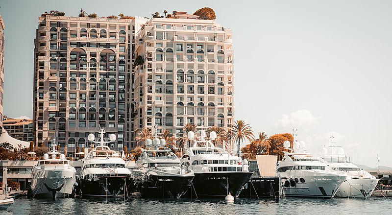 Yachts in in Cap-d'Ail Monaco