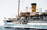 SS Delphine yacht  at anchor off Monaco