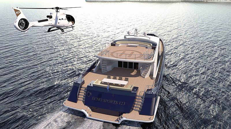 Echo Yachts TSY38 motor yacht design