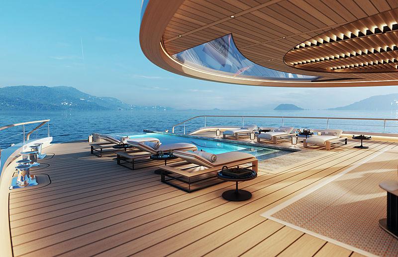 Aqua super yacht concept by Sinot Yacht Architecture & Design