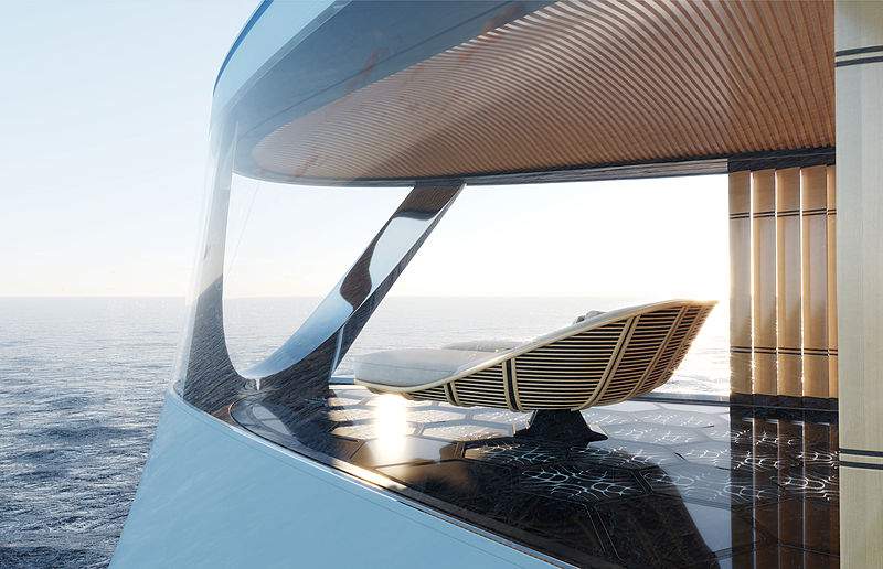 Aqua super yacht concept by Sinot Yacht Architecture & Design
